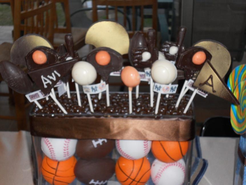 sports themed edible centerpiece